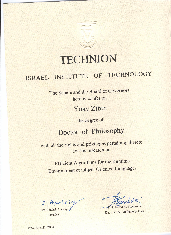 yoav zibin  phd